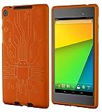 Cruzerlite Bugdroid Circuit Case for Nexus 7 (2013)(オレンジ) N7FHD-Circuit-Orange