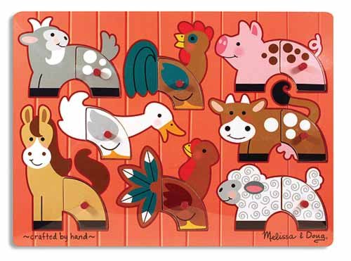 Cheap Fun Melissa and Doug Farm Mix 'n Match Peg Puzzle (B0036VHMEC)