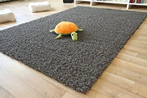 "Shaggy Rug Funny - silver grey - Thick Soft Pile - 65x130 cm (2ft 2"" x 4ft 4"") - 16 sizes available from Steffensmeier"