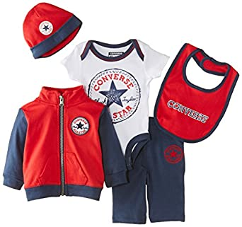Converse Baby Boys 5 PC Boxed Clothing Gift Set Blue