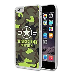 iPhone 6s/ iPhone 6 Bumper Case (White) - Warrior Within Camouflage - Limited Edition Designed by Nik-L