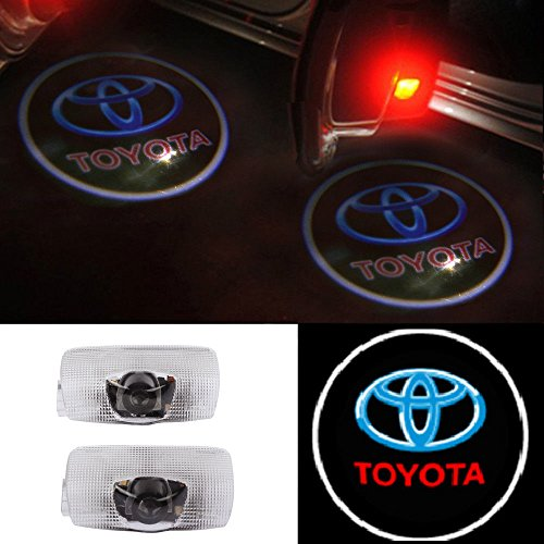 Moonet 2x Door Light Car Vehicle Ghost LED Courtesy Welcome Logo Light Lamp Shadow Projector For Toyota Crown Land Cruiser Prado Reiz Camry Highlander Corolla Prius Previa Sienna Sequoia Tundra (Toyota Prado Lights compare prices)