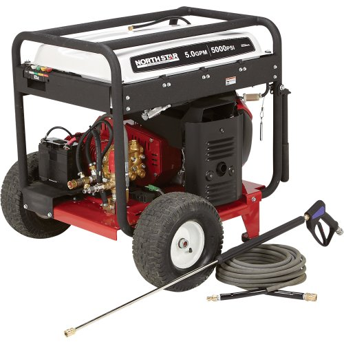 Northstar Gas Cold Water Pressure Washer - 5.0 Gpm, 5000 Psi, Electric Start, Honda Engine, Belt Drive, Model# 1572091