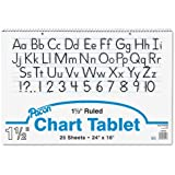 "Pacon Chart Tablet, 24""X16"", 25 Sheets/Tablet"