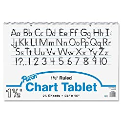 Pacon Chart Tablets, 24 x 16 Inches, 25 Sheets (0074720)