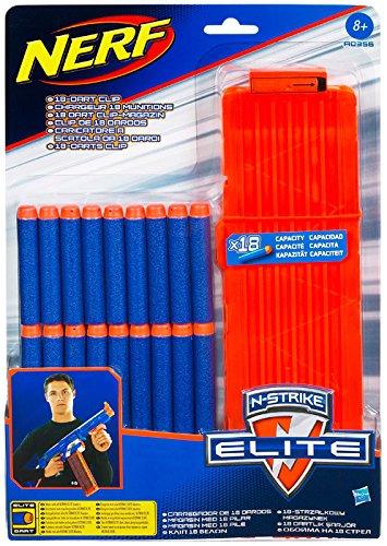 Nerf - Pack de 18 dardos clip modelo Elite (Hasbro A0356148)