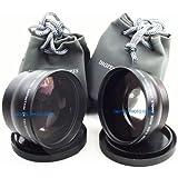 58mm .43X Wide Angle Lens with Macro + 2X Telephoto Lens for Sony Cybershot DSC-H10, DSC-H5, DSC-H3, DSC-H2, DSC-H1, DSC-F828, DSC-F717, DSC-F707 Digital Cameras + DPGear Cleaning Kit