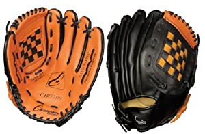Buy Champion Sports Leather Front Vinyl Back Fielder's Glove by Champion Sports