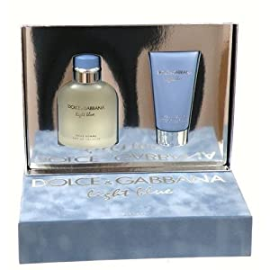 Dolce Gabbana Light Blue Gift Set 2 Piece (4.2 oz. Eau De Toilette Spray+ 2.5oz. After Shave Balm In Hard Box) Men by Dolce Gabbana