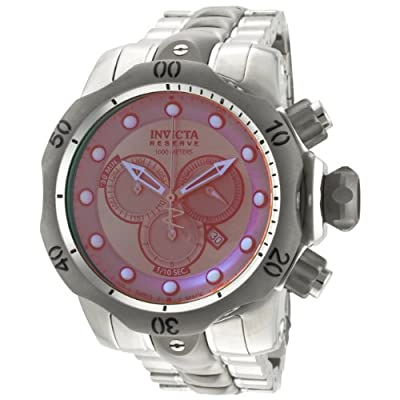 Invicta Men's 0967 Venom Reserve Chronograph Rose Tinted Crystal Stainless Steel Watch