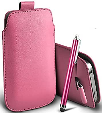 Great Deals on Click Sales®, APPLE IPHONE 3 3G 3GS, PU PULL TAB, Flip Grip Protective POUCH WALLET SKiN POCKET LEATHER CASE COVER + Touch Screen Stylus Pen (BABY PINK)