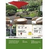 400 cm Ø - SKYLINE - TROMPETENFORM UMBRELLA - KURBEL - SONNENSCHIRM - mit KURBEL abnehmbar ZANGENBERG - GERMANY - RUND - 400 cm - 8 teilig - Farbe : KIRSCH ROT - OHNE BODENHÜLSE NUR SCHIRM - VERTRIEB Holly ® Produkte STABIELO ® - holly-sunshade ®