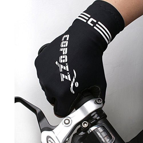 Bicycle Gloves, COPOZZ Non-slip Foam Pad Half Finger Short Gloves for Cycling Mountain Bike Road Racing Riding Motorcycle Driving Gym Fitness Exercise Body Building Soft Perfect Fit Hand for Men Women