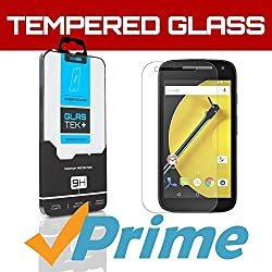 SOJITEK Motorola Moto E (2015) Premium Ballistic Tempered Glass Screen Protector with Lifetime Replacement Warranty - High Definition (HD) Ultra Clear 99.99% Clarity and Touchscreen Accuracy Smart Film - Retail Packaging 2014