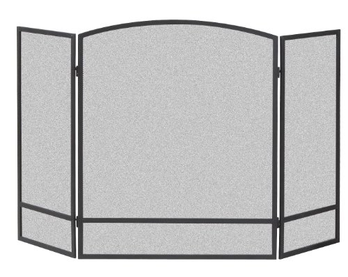 panacea-products-15951-3-panel-arch-screen-with-double-bar-for-fireplace