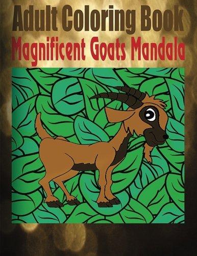 Adult Coloring Book Magnificent Goats Mandala
