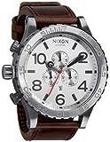 Nixon 51-30 Chrono Leather Watch Silver/Brown, One Size