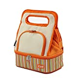 Loyo Outdoor Orange Freezable Lunch Cooler Portable Bag With 1 Lanch Box