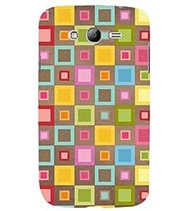 Printvisa Multicolour Check Pattern Back Case Cover for Samsung Galaxy Grand i9080:::Samsung Galaxy Grand i9082