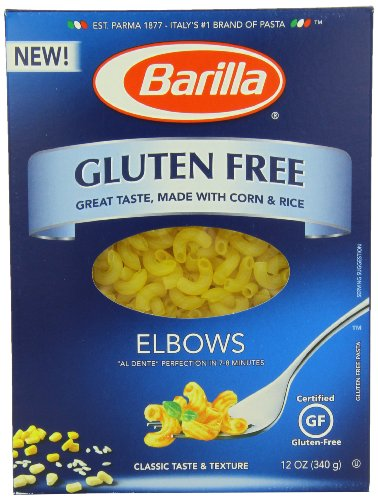 Barilla Gluten Free Elbow Pasta, 12 Ounce Boxes (Pack Of 12)