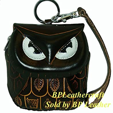 Leather Owl Coin Purse - various colors