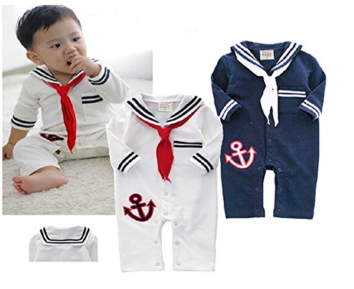 StylesILove Baby Boy Sailor Anchor Costume Jumpsuit