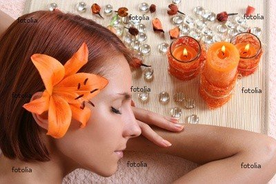 """Wallmonkeys Peel and Stick Wall Graphic - Relaxation in Spa Salon - 18""""W x 12""""H"""