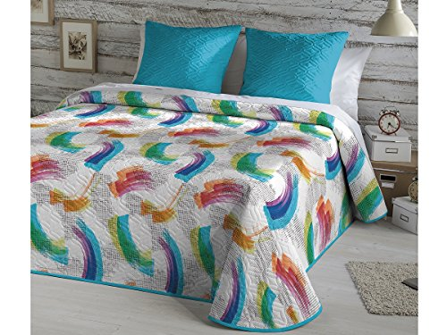 Fundeco - Colcha Bouti TERRY - cama de 90 cm. Color Unico