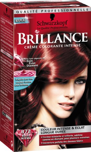 schwarzkopf brillance coloration permanente rouge intense 872 colorations. Black Bedroom Furniture Sets. Home Design Ideas
