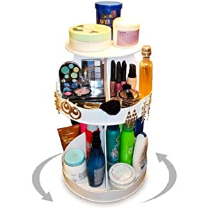 Amazon.com : Cosmetic Organizer that Spins ! Makeup is Now at Your ...