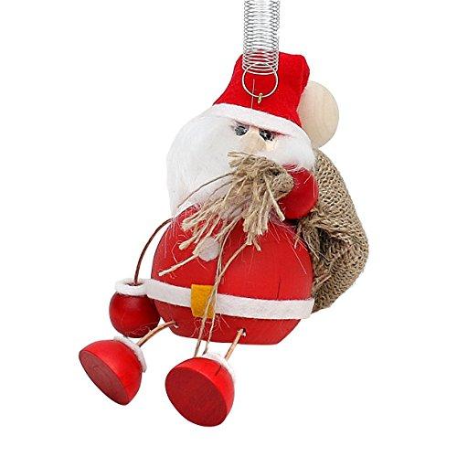 Figure di legno divertenti come Jumper swing figura con Primavera come Weihnachtsmann mit Jutesack