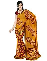 Mamta Sarees'women Chiffon Saree Multi Color Saree With Blouse