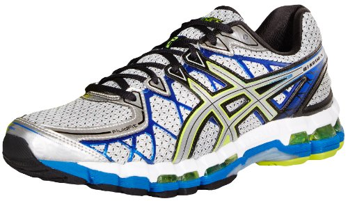 ASICS Men's Gel Kayano 20 Running Shoe,Lightning/Silver/Royal,11.5