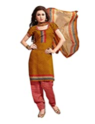 Sky Fashions Women's Multi Cotton Top Un-stiched Salwar Suit (SYFW0023)