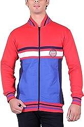 RGT Men's Fleece Regular Fit Sweatshirts (RGT6036REDROYAL-L)