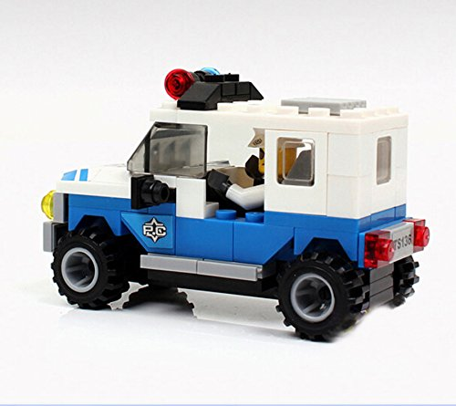 Maxhood Plastic Assembling Police Car Toy Interlocking