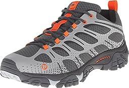 Merrell Men\'s Moab Edge Hiking Shoe, Grey, 12 M US