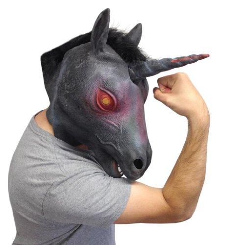 Deluxe Latex Mask - Evil Unicorn Mask
