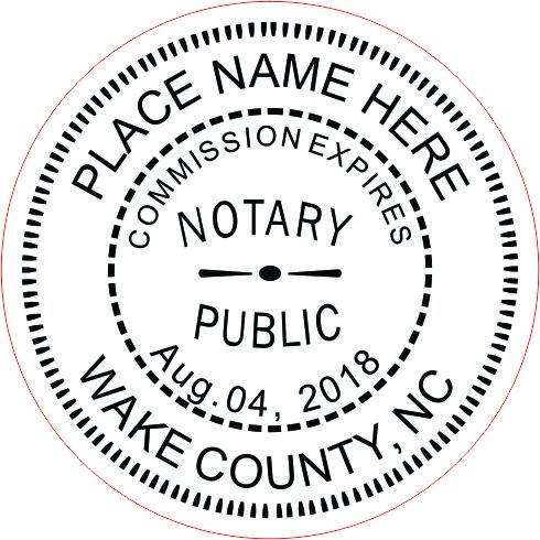 NEW IMPRUE Round Self-Inking NOTARY SEAL RUBBER STAMP - North Carolina (Notary Stamp And Seal compare prices)