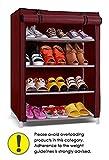 #8: Pindia  Shoe cabinet , 4-5  Layer Maroon Shoe Rack Organizer