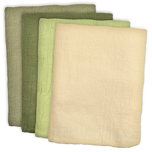 DII 100% Cotton, Machine Washable, Cleaning, Drying, Utility Flour Sack Multi Use Dishtowel, Set of 4, Natural