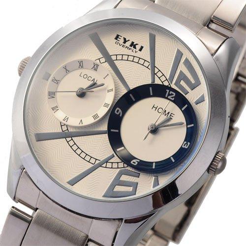 Eyki Overfly Two Time Zone Special Design Fashion Quartz Watch
