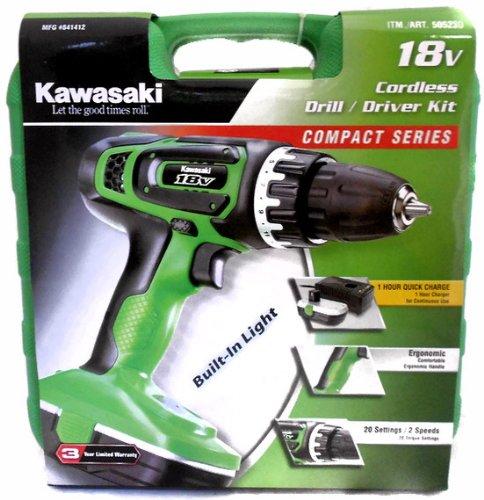Kawasaki Cordless Drill/Driver Kit 18v 841412 | 18v cordless drill