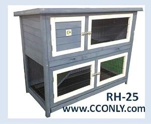 Rh 25 rabbit hutch 2 story small animal for Super pet hutch