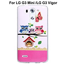 buy Lg G3 Vigor / G3Mini Case, Sophia Shop [Owl Pattern] [Flower Pattern] Ultra Slim Tpu Protective Cover Case Fit For Lg G3 Vigor/ Lg G3 Mini (One Family Owl)