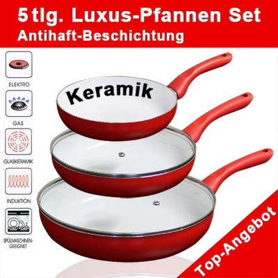 Exklusives Keramik Pfannen Set
