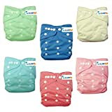 "LOVE MY""(Cinderella Color)""Baby Girl Washable Reusable Cloth Diapers,breathable, Adjustable Snap,6 Diapers + 12..."