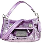 Coach Limited Edition Sequin Groovy Convertiable Shoulder Bag 15381 Lilac