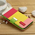 myLife (TM) Pink Lemonade + Pikachu Yellow {Stripe Design} Faux Leather (Card