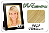 "Pro Extensions 14"" x 39"" #613 Blonde 100% Clip on in Human Hair Extensions"
